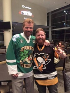 2 time Stanley Cup winner Phil Bourque and our very own Defenseman Jamie Hickey. Pittsburgh, USA.