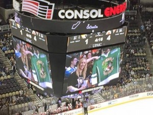 The Console Stadium, Pittsburgh! If this was the Kiss Cam Jamie, you have got your priorities RIGHT!!